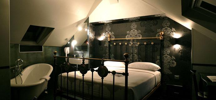 Le camere dell 39 h tel design sorbonne for Camere hotel design